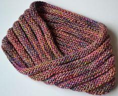 Easy Mobius Cowl by Haley Waxberg. malabrigo Silky, Arco Iris colorway.