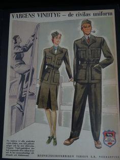 """Vargens vindtyg - de civilas uniform"" Regnklädersfabriken Vargen A.-B. Norrköping I 1941"