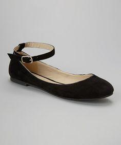 Love this Black Abigail Flat on #zulily! #zulilyfinds