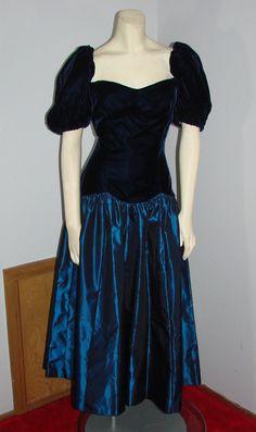 Vintage 80s Blue Velvet & Taffeta Party by TheScarletMonkey
