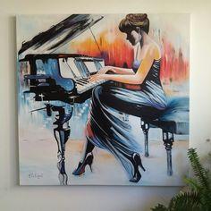Pintura arte en Óleo por la artista M.A. Eslait