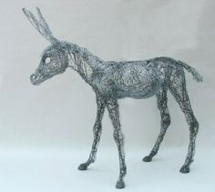 life size 'Donkey Foal' from wire netting