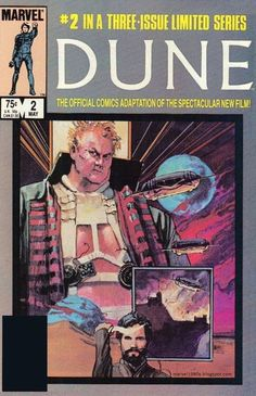 Marvel Comics of the 1980s: 1985 - Dune Limited Series Covers by Bill Sienkiewicz