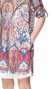 Image 4 of PAISLEY PRINT TUNIC from Zara