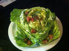 Bibb lettuce salad with buttermilk dressing & bacon