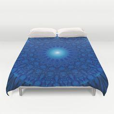Mandala blue 2 Duvet Cover by Christine baessler - $99.00