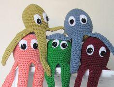 Bløde blæksprutter bobler af legelyst #octopus #crochet #gallerigavlen #toy