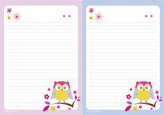 Vários papéis de carta e wallpapers fofos