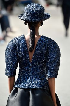 A model, back detail, walks the runway during the Chanel Haute Couture Fall/Winter 2017-2018 show as part of Haute Couture Paris Fashion Week on July 4, 2017 in Paris, France.