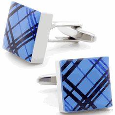 Plaid Three Cufflinks by Cufflinksman  #Cufflinks #Fashion #Jewelry #shopping