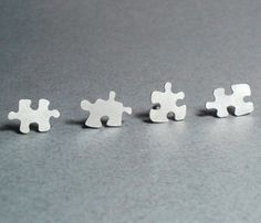 Puzzle Stud Earrings.