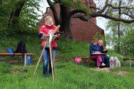 Landschaftsmalerei an der Kirche Göhrens – Aussicht auf das Mönchgut (2) The Good Place, Park, Outdoor Decor, Watercolors, Places, Landscape Paintings, Island, Watercolor, Water Colors