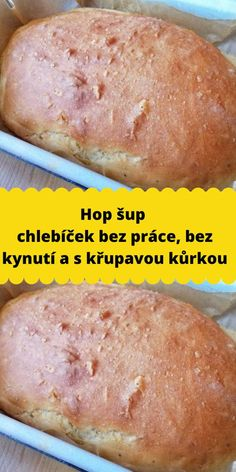 Bread Recipes, Snack Recipes, Cooking Recipes, Snacks, Czech Recipes, Home Baking, Banana Bread, Food To Make, Food And Drink