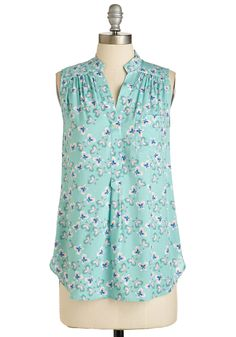 Float On Flair Top in Butterflies, @ModCloth
