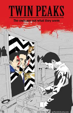 Twin Peaks Original Poster   by guiltycubicle on Etsy   #Twin_Peaks