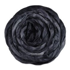 Mulberry Silk Roving Hand Dyed in Dark Charcoal 13093 Nuno Felting, Needle Felting, Charcoal Black, Mulberry Silk, Fiber, Australia, Wool, Spinning, Colour