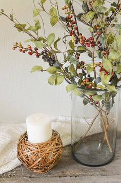 Easy way to make faux greenery look like real branches.     www.andersonandgrant.com