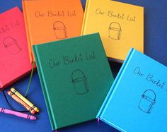 Wide array of colors our bucket list journal · paper anniversary