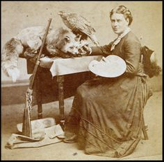 Martha Ann Maxwell Taxidermy Innovator Martha Ann Maxwell was a first women field naturalist who acquired and prepared her own work. Commonplace Book, Heritage Museum, Historical Women, Daguerreotype, Women In History, Western Cowboy, Natural History, Alter, Vintage Photos