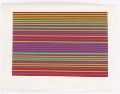 Bridget Riley, Stripes Study, 1973