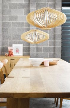 Kiel 360mm Natural Wooden Pendant Wood Canopy, Wooden Slats, Globe Lights, Pendant Lighting, Chrome, Black And White, Natural, Table, Fashion Design