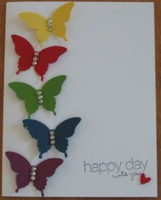 Thank you for being a friend butterflies Paper Crafts with