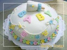 Resultado de imagen para tortas para baby shower niña con cigueña