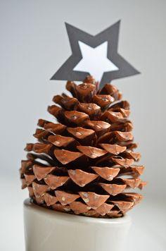 Mit tannenzapfen basteln auf pinterest - Weihnachtsdeko mit tannenzapfen ...