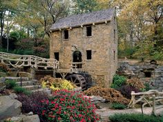The Old Mill in North Little Rock Arkansas.  Circa 1933 and featured in the opening scene of the movie, Gone With The Wind.  The gardens at The Old Mill are tended by the Pulaski County Master Gardeners.
