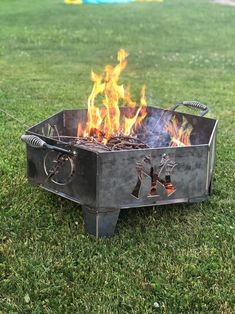 Custom Fire Pit, Portable Fire Pits, Composite Decking, In Ground Pools, Backyard Patio, Outdoor Storage, House Warming, Outdoor Decor, Etsy