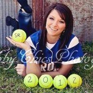 senior pictures;softball; senior and graduation year on softballs