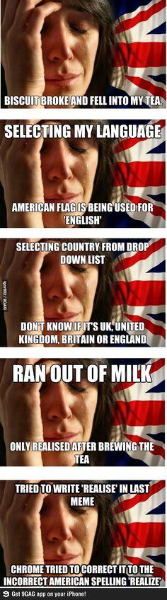 British First World Problems