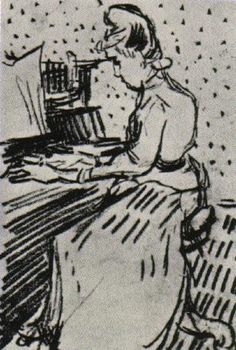 Mademoiselle Gachet at the Piano, 1890 Vincent van Gogh