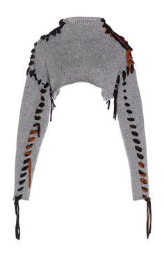 Acne Studios Kacee Lace-Up Cropped Wool Sweater Fashion Mode, Look Fashion, Diy Fashion, Ideias Fashion, Fashion Outfits, Womens Fashion, Fashion Design, Fashion Trends, Korean Fashion