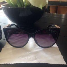 Chanel 5336 Bijou Authentic Women Sunglasses Black Cat-Eye Pearl