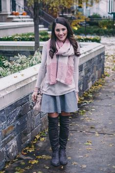 Pink Plaid and Grey