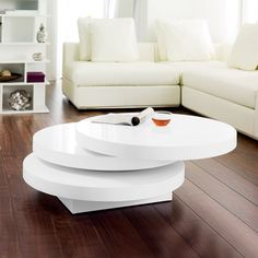 Lovely Round Swivel Coffee Table