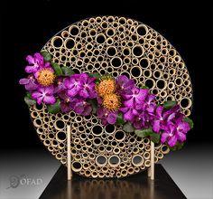 Organization of Floral Art Designers Art Floral, Design Floral, Deco Floral, Contemporary Flower Arrangements, Creative Flower Arrangements, Flower Boxes, Diy Flowers, Paper Flowers, Altar Decorations
