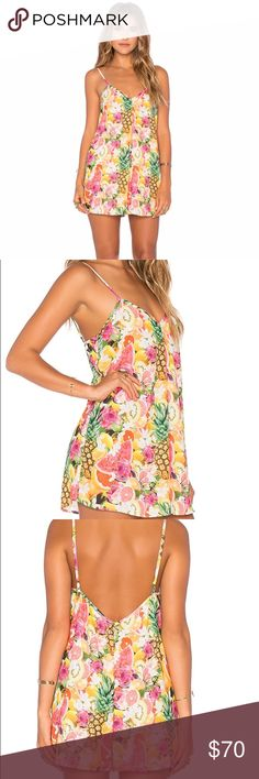 Show Me Your MuMu Romper Show me your MuMu Rascal Romper in Tutti Frutti print. Was new, and I wore it for only 2 hours so it is in perfect (like-new) condition! I Love this Romper Show Me Your MuMu Dresses Mini