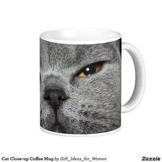 Cat Close-up Coffee Mug #coffeemug #cats #catlover #britishblue #giftsforher #giftideas #christmasgifts