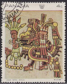 Panama 495c CTO 1968 Mexican Art: Nutell Codex - bidStart (item 28118635 in Stamps... Panama)
