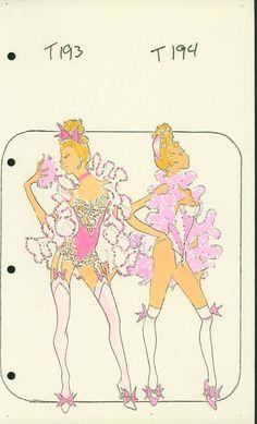 Powder Girl Costume designed by Pete Menefee Vegas Showgirl, Showgirls, Girl Costumes, Fashion Sketches, Costume Design, Burlesque, Cool Art, Las Vegas, Powder