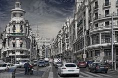 Madrid en movimiento Madrid, Landscapes, Street View, In This Moment, Beautiful, Lights, Scenery, Fotografia, Pictures