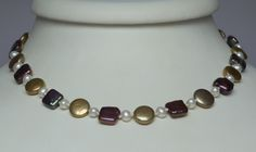 Assorted pearl necklace. Pearls can vary wildly in shape and look