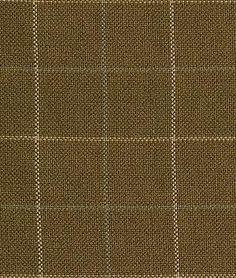 Pindler & Pindler Wessex Chocolate - tattersall plaid fabric - $57.60/yard  - colors: brown, tan, khaki, aqua, cream