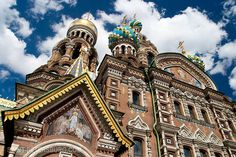 Richly Decorated Church of Savior on the Spilled Blood