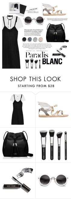 """""""Untitled #269"""" by riennise ❤ liked on Polyvore featuring MM6 Maison Margiela, Ancient Greek Sandals, Kate Spade, Terre Mère, Bobbi Brown Cosmetics, Polaroid and Gothenburg London"""