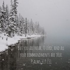 """Psalms 119:151 """"You are near, Lord, and all your commandments are true."""""""
