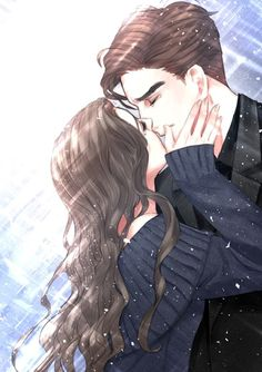 Anime Couples Drawings, Anime Couples Manga, Anime Poses, Anime Cupples, Kawaii Anime, Anime Guys, Anime Couple Kiss, Romantic Anime Couples, Fantasy Couples