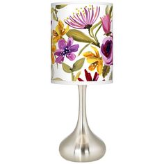 Bountiful Blooms Giclee Droplet Table Lamp - #K3334-9V164 | Lamps Plus